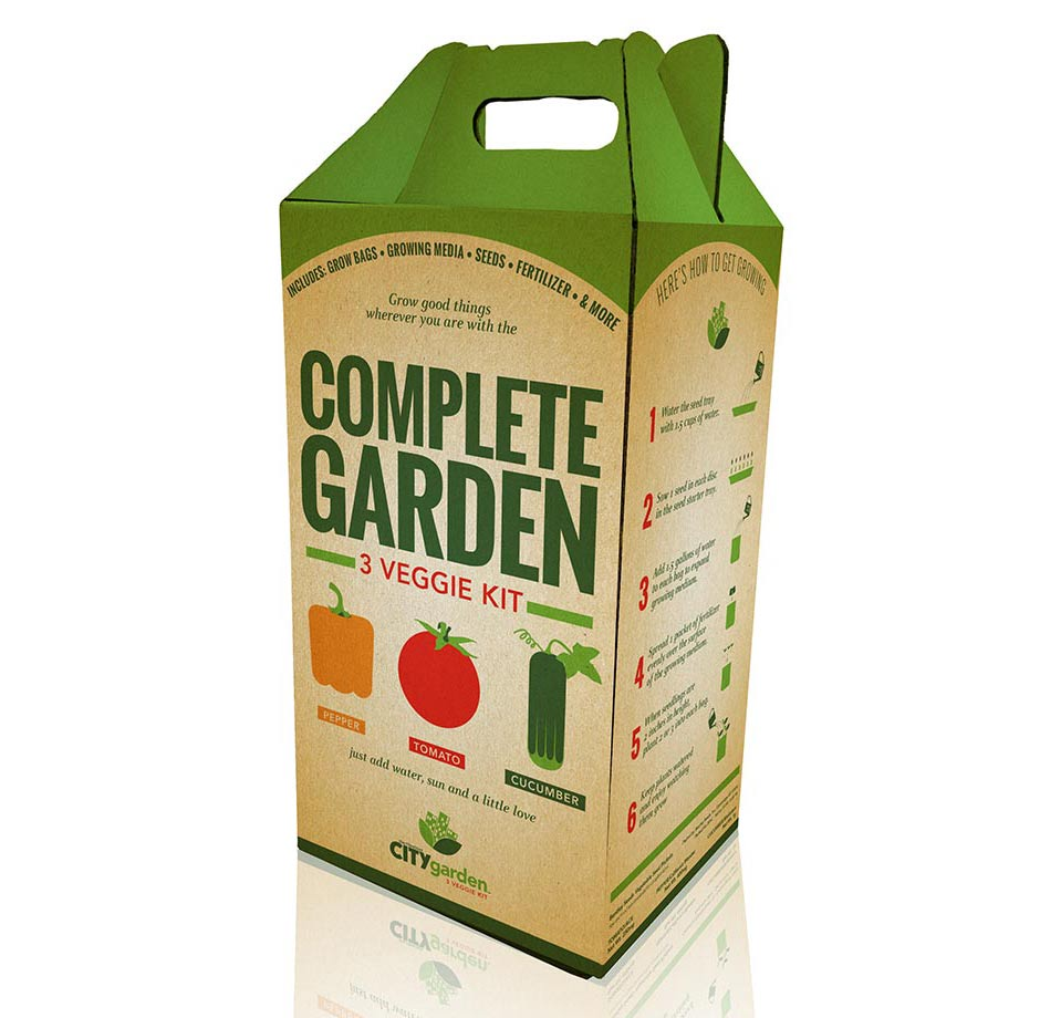 City Garden Complete Garden Kit Packaging ottocreatecom