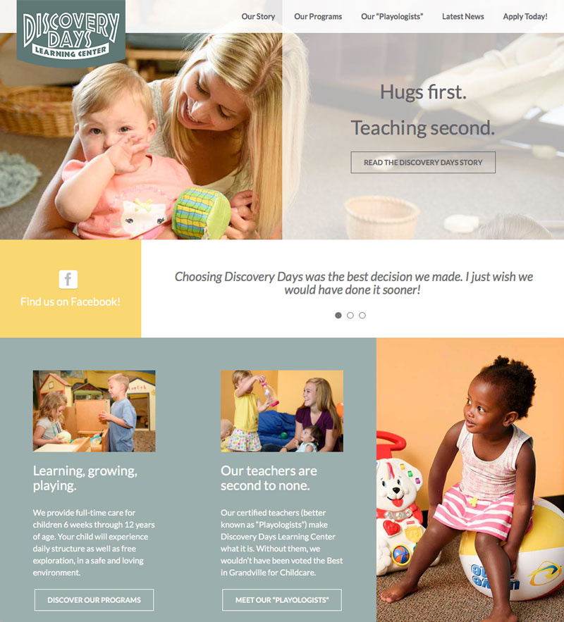 Discovery Days Learning Center Website